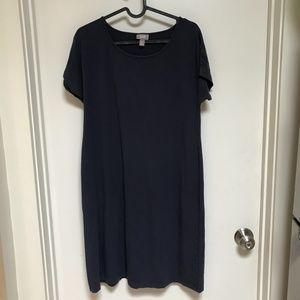 J. Jill Navy blue Shirt Dress Size S Petite